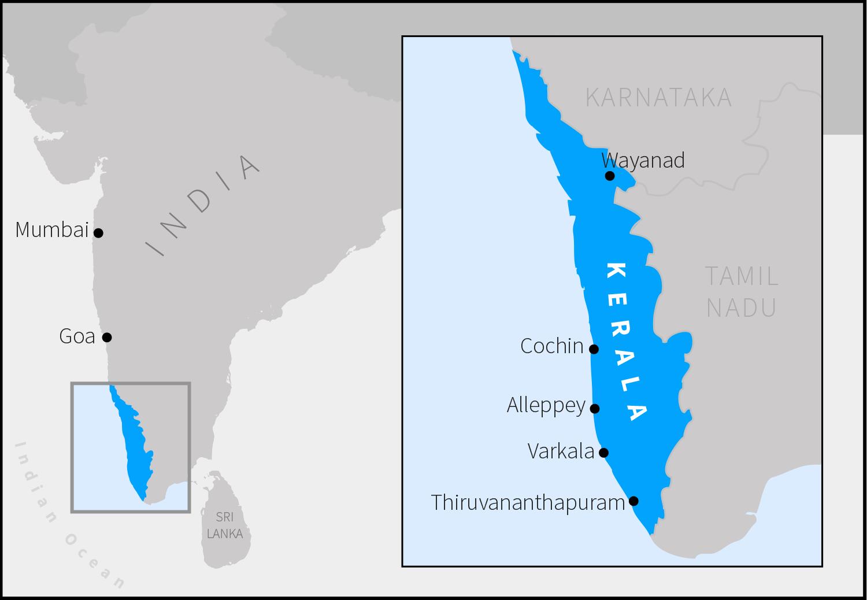 map-kerala