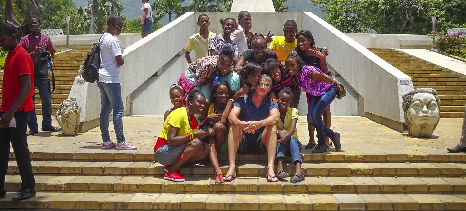 Simon Buckby at the National Museum, Port-au-Prince, Haiti