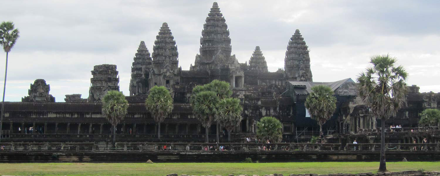 Wide view of Angkor Wat in Cambodia