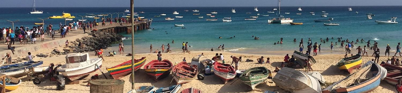 Santa Maria beach on Sal island, Cabo Verde
