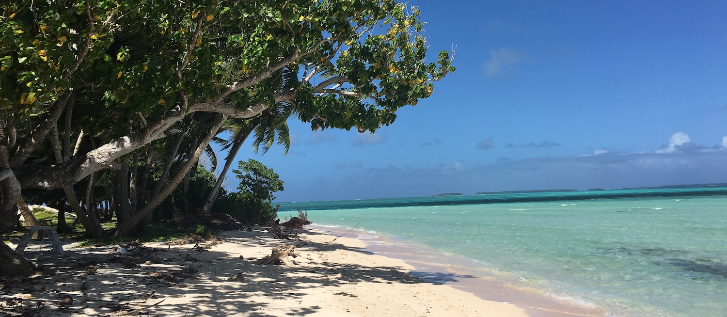 Eneko Island beach in the Marshall Islands