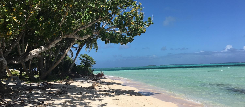 Eneko Island beach in the Marshall Islands