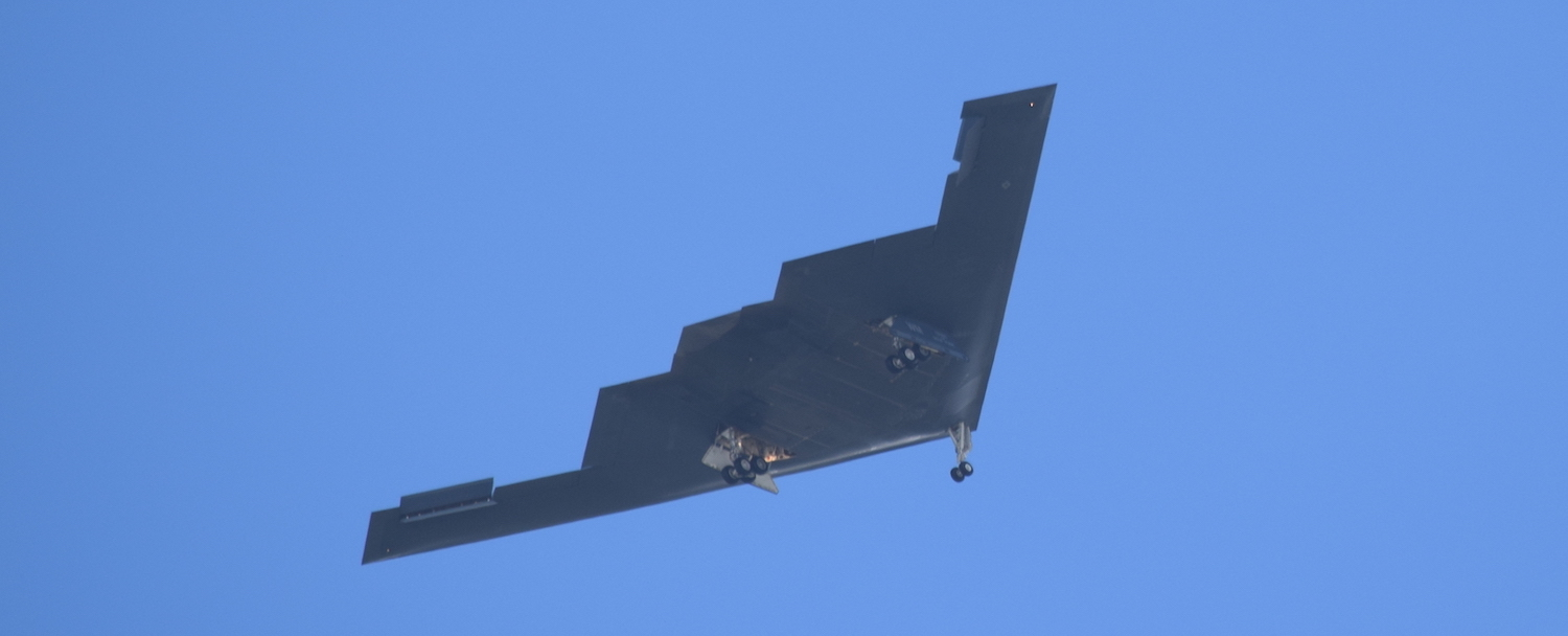 US Stealth Bomber over Guam