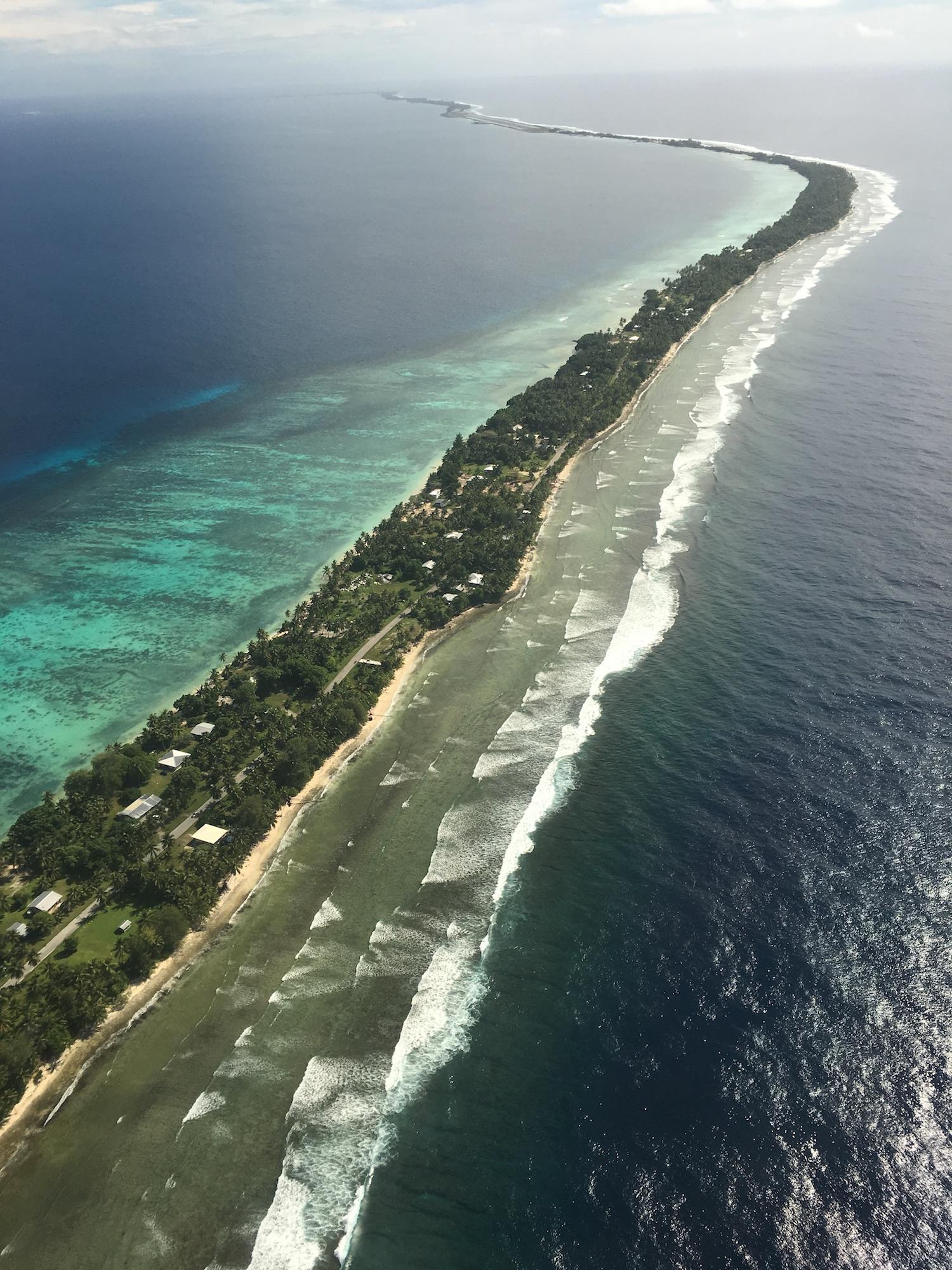 Majuro Atoll from the air