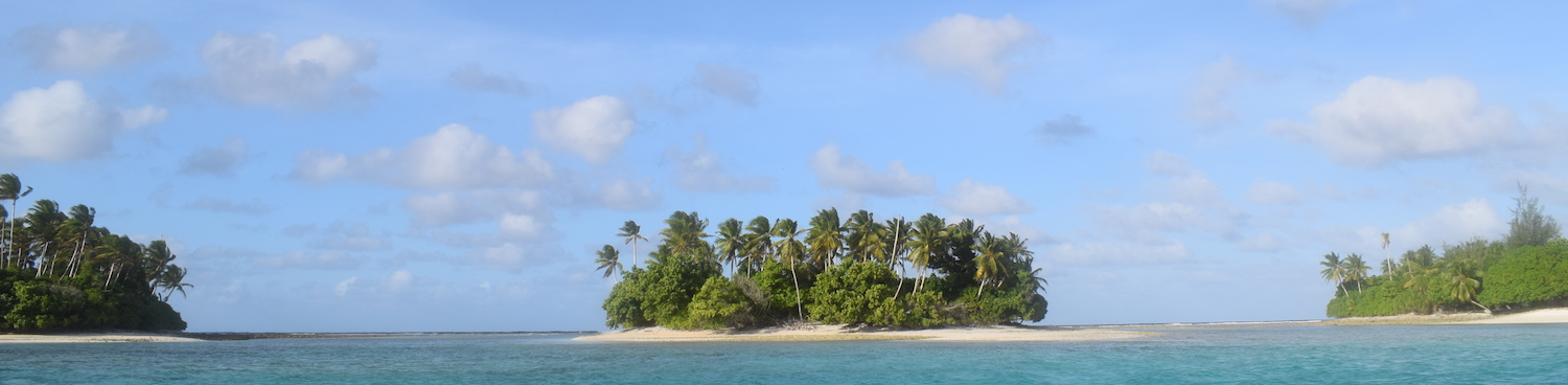 Islands in Majuro Atoll from the sea