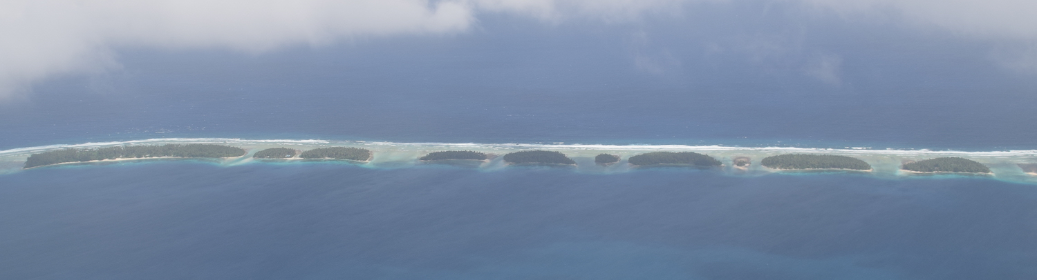 Islands in Majuro Atoll from the air