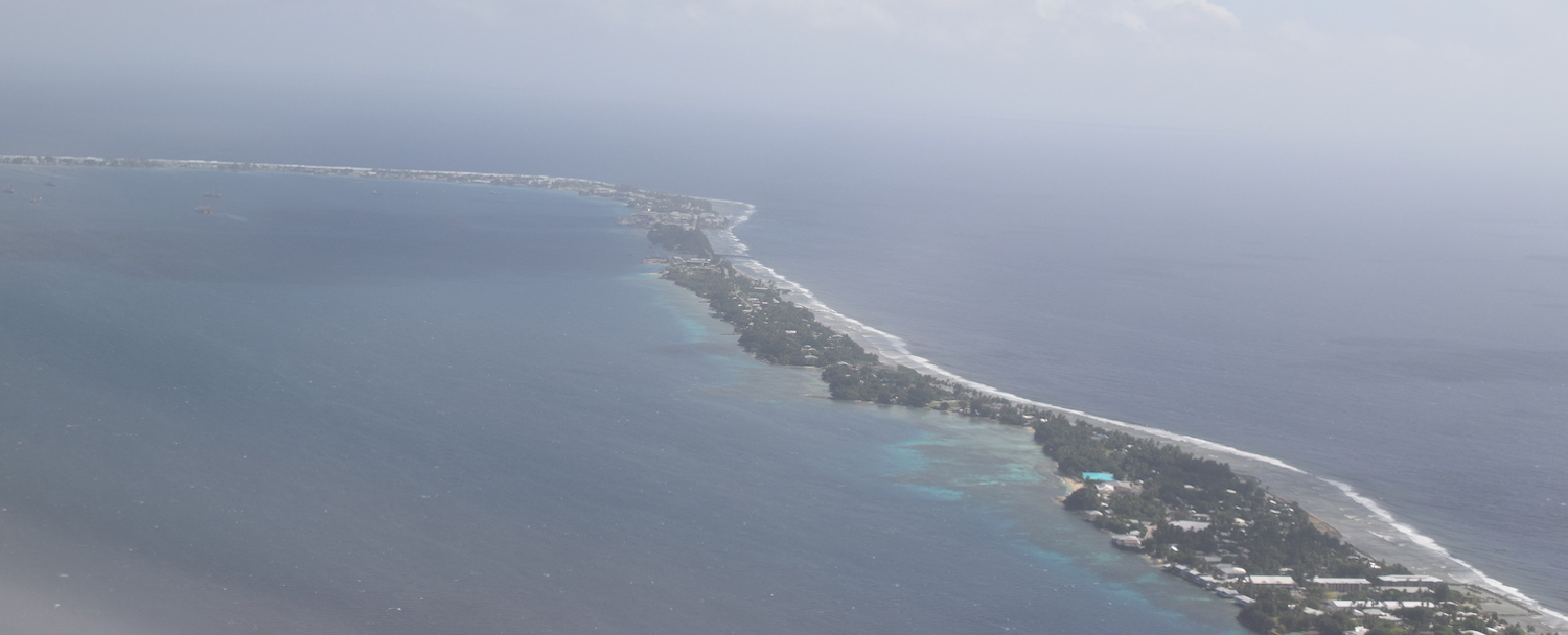 Majuro Island in the Marshall Islands from the air
