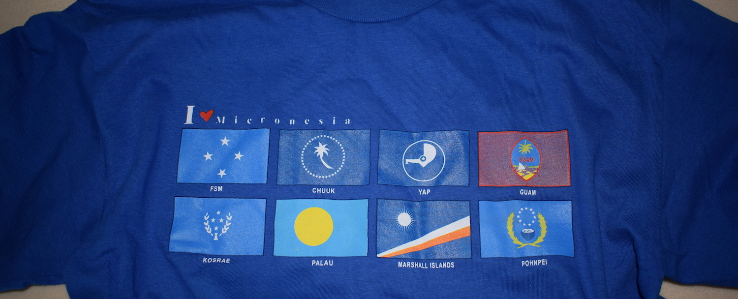 Micronesia T-shirt with flags of component countries