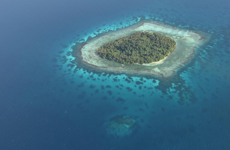 An island atoll