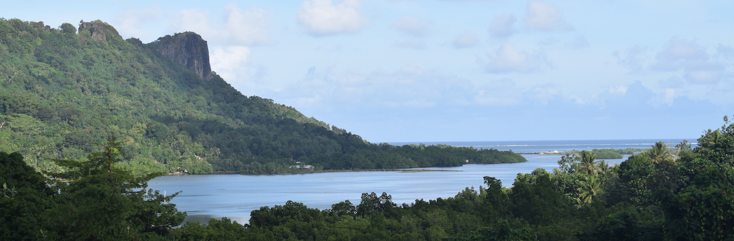 Panoramic view of Sokehs Rock in Pohnpei