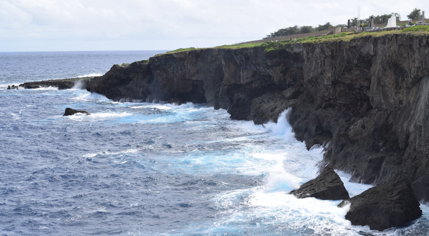 Banzai Cliff in Saipan in Northern Mariana Islands
