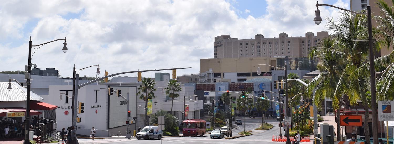 Street view of Tamuning in Guam