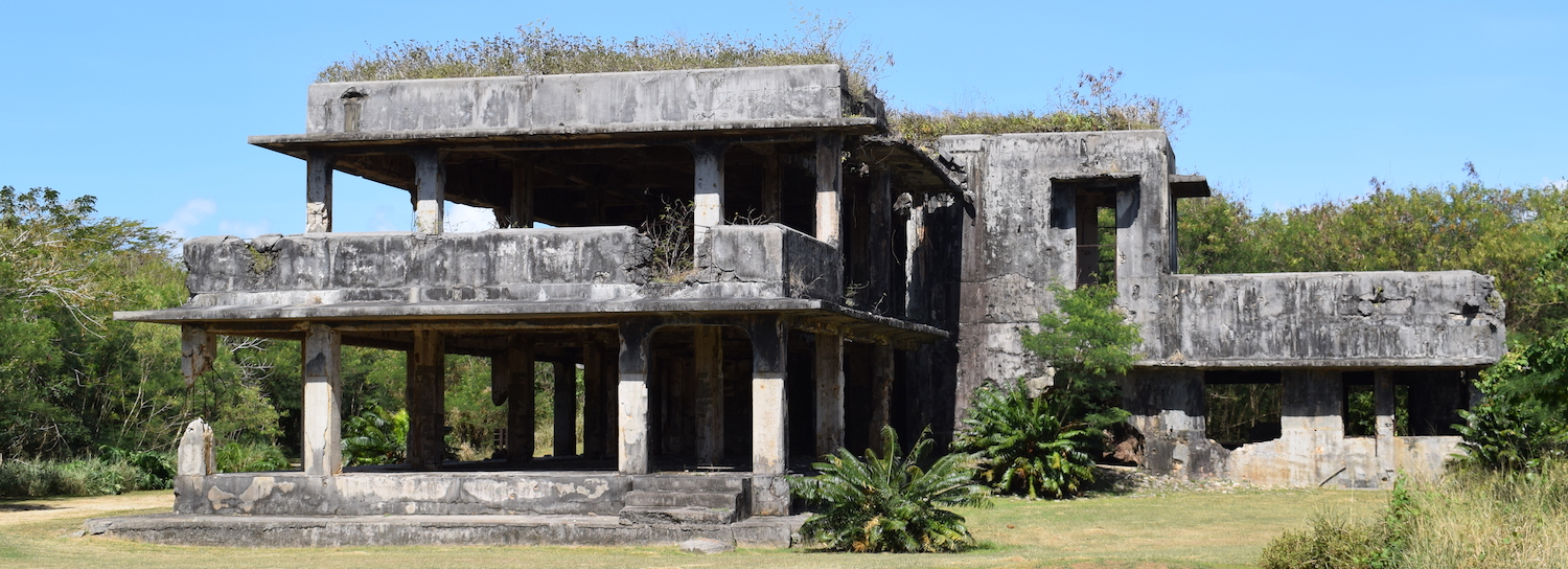 Ruins of Japanese WW2 military HQ in Tinian