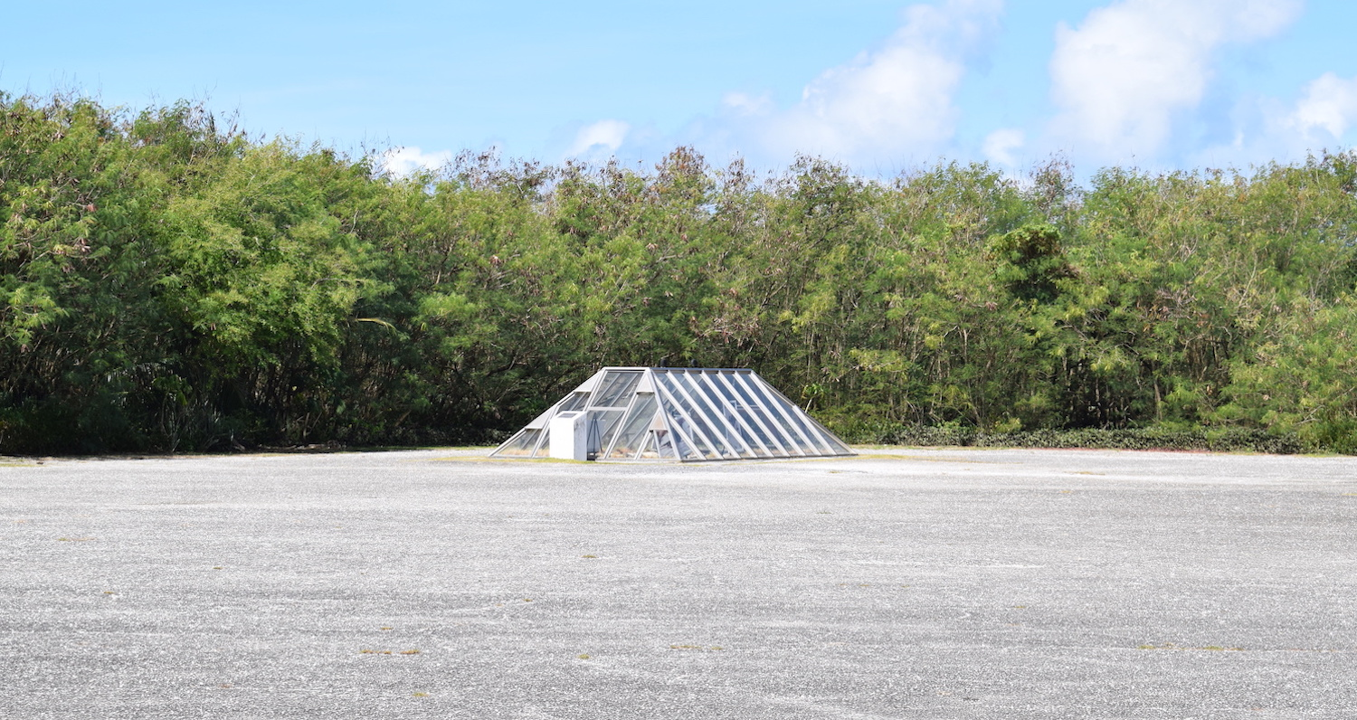 Atomic bomb loading bay in Tinian
