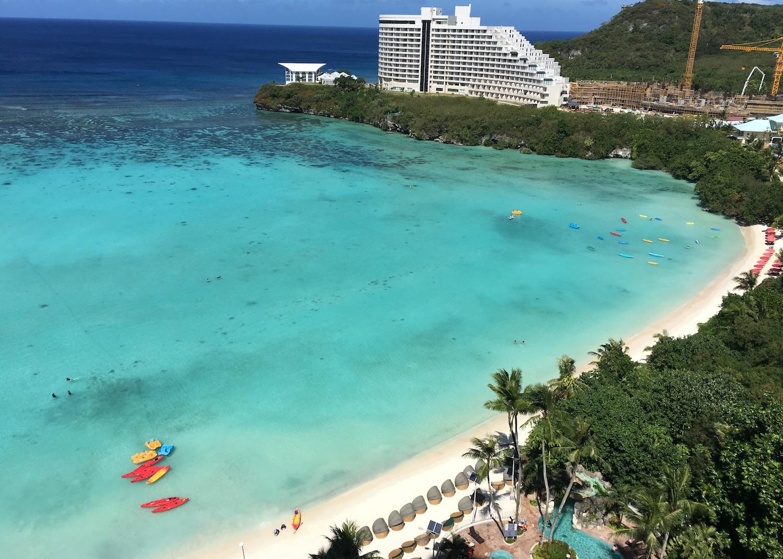 Tumon Bay beach in Guam