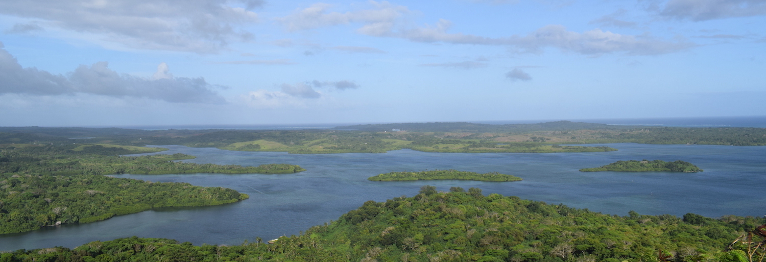Panoramic view across Yap in the FSM