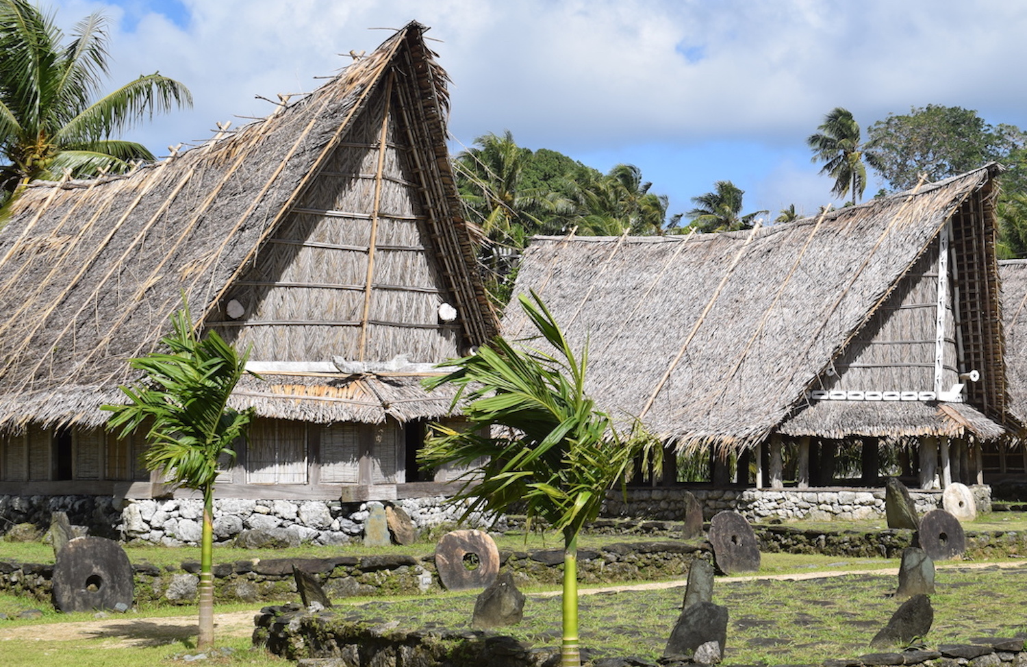 Traditional village houses in Yap
