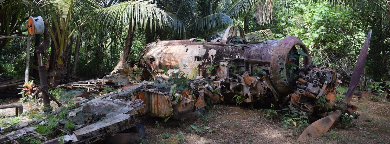 WW2 plane wreckage in Yap