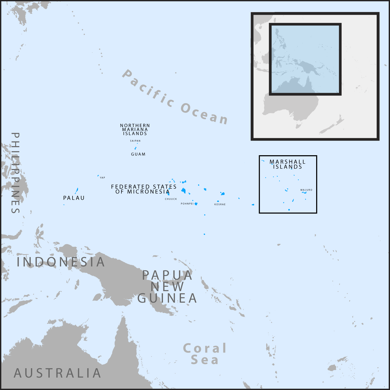 Map of the Republic of the Marshall Islands